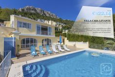 VILLA OF THE WEEK !!! VILLA CASA LEVANTE Super holiday villa located in a quiet residential area of Calpe called Oltamar. Only 3 Km from the town, beaches and all amenities. www.abahanavillas.com