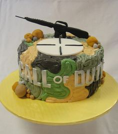 Call Of Duty Birthday Cake-I know a little boy that will LOVE THIS!