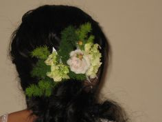 Flower hair pin