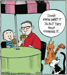 Trendy Ideas For Funny Cartoons Jokes Humor Comic Cartoon Jokes, Funny Cartoons, Funny Comics, Funny Memes, Cartoon Pets, Cat Jokes, Math Memes, Hilarious Jokes, I Love Cats