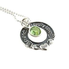 Friendship Loyalty Love Personalized Birthstones Necklace - $54.00