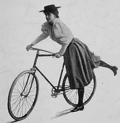 Girl on the bike with style...