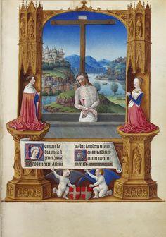 The Limbourg Brothers, fl.c.1390-1425, Netherlandish-French, Les trčs riches heures du Duc de Berry, 1412-16. Tempera on vellum, 29.4 x 21 cm. Musée Condé, Chantilly. International Gothic, Proto-Renaissance.