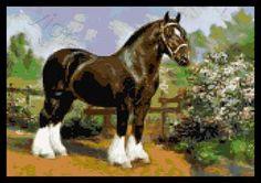 Shire horse cross stitch kit or pattern