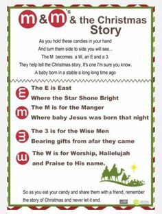 The M&M Christmas Story - Over 8 Free Printables   recipes ...
