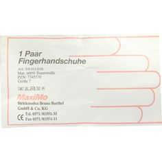 HANDSCHUHE Baumwolle Grösse 7 UEberlänge:   Packungsinhalt: 2 St Handschuhe PZN: 07345570 Hersteller: Strickmoden Bruno Barthel GmbH &…