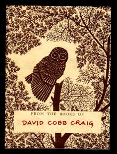 David Cobb Craig: From My Collection of Bookplates--Owls