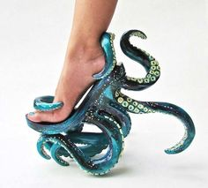 Octopus-Inspired Stilettos - These Unusual High Heels Feature Intricate Octopus Tentacles (GALLERY)