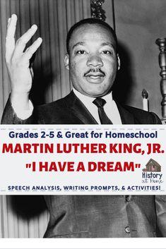 """I Have a Dream"" Speech Analysis for Homeschool Grades Social Studies Resources, Teacher Resources, Teacher Tools, School Resources, Classroom Resources, Classroom Ideas, Homeschool Curriculum, Homeschooling Resources, I Have A Dream"