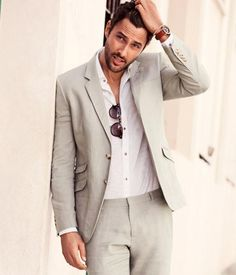 Summer Casual Grey Linen Suits Notched Lapel Men Wedding Suits Sea Grooms Tuxedos Two Piece Mens Suits Slim Fit Beach Groomsmen Suits Black Tuxedo Shirt Clothes Men From Parisimpression, $122.23| Dhgate.Com