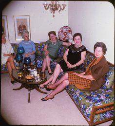 women couch 1967 | Flickr - Photo Sharing! It's like I'm looking at my aunts, etc. during a family gathering.