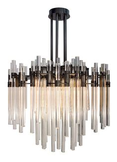 Verga suspension chandelier by Wired Custom Lighting. For luxurious interior design projects. Interior Lighting, Home Lighting, Modern Lighting, Lighting Design, Bathroom Lighting, Pendant Chandelier, Chandelier Lighting, Chandeliers, Modern Chandelier