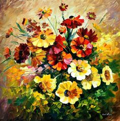 Breathtaking Flower Paintings by Leonid Afremov - AmO Images - AmO Images