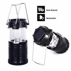 High quality solar rechargeable lantern. You can use it for camping, hiking, night walking and the other outdoor och indoor activities. Energy Saving & Environment Friendly Innovative solar charging design,environmental protection, close to nature. Unique Telescopic Design Super lightweight, portable, compact design. It is easily foldable with a single touch and can be hung anywhere. When you don't use it, you can turn it into a smaller size to save space. Turn it on or off by unfolding and…
