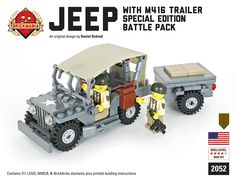 Brickmania - Jeep with M416 Trailer Battle Pack