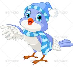 funny bluebird clip art | ... of a cute winter talking bird. EPS 8, JPG (high resolution
