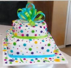 simple square birthday cakes - Google Search