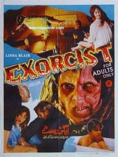 A foreign version of The Exorcist original release movie poster.