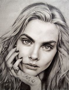 Cara Delevingne by JulietEssence    | First pinned to Celebrity Art board here... http://www.pinterest.com/fairbanksgrafix/celebrity-art/ #Drawing #Art #CelebrityArt
