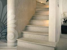 Stairs in Tinoco Stone #limestonegallery #tinoco #stairs #limestone #honed #finish #interiors #interiordesign #design #architecture #architecturelovers #marble #London #kingsroad #showroom #tiles #trend #trend #development #developer #luxury #bespoke #idea #inspiration #floors #walls #flooring #walling #wallart #renovation #beauty #chelseaharbour #designdistrict #texture #chelseadesignquarter #house #home #parisceramicsuk #deferranti #surfaceologist