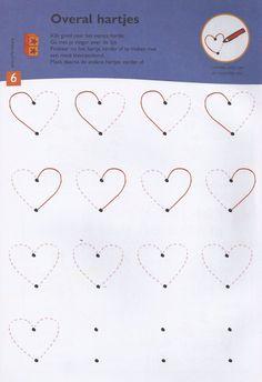 Schrijfmotoriek hartjes