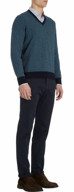 Herringbone on cashmere