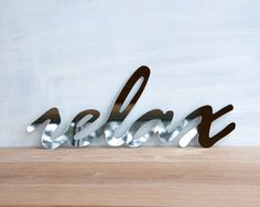 Relax Mirror Word Sign #luvocracy #design #typography
