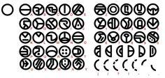 The Art of Star Wars: The Clone Wars. Umbaran Alphabet