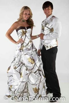 Snow camo formal. I am in LOVE with that dress.