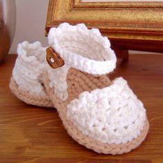 Crochet Pattern Baby Espadrille Baby Sandals Baby booties Crochet Pattern Espadrille R; Baby Girl Sandals, Crochet Baby Sandals, Crochet Baby Booties, Crochet Shoes, Headband Crochet, Girls Sandals, Summer Sandals, Girls Shoes, Baby Girl Crochet Blanket