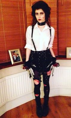 Edward Scissorhands ✂️ #Halloween #FancyDress DIY