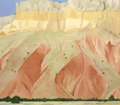 Untitled (Red and Yellow Cliffs) (1940), oil on canvas, Georgia O'Keeffe.