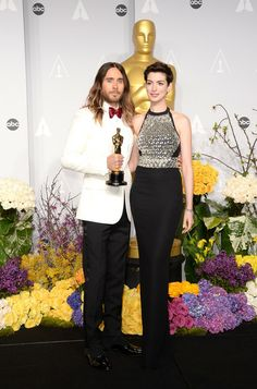 Anne Hathaway  Jared Leto - 86th Annual Academy Awards - Press Room 2014