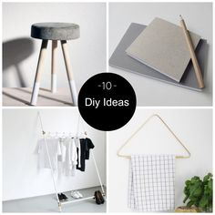 10 DIY Ideas To Try. Love the concrete stool. Made using a bucket and 3 wooden posts  ...