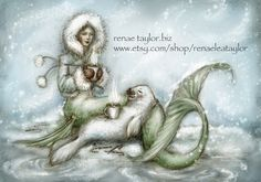 Cocoa Mermaid8x10 matted print by renaeleataylor on Etsy, $10.00
