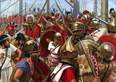Roman legion boarding a Carthaginian galley