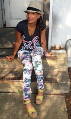 Melissa's Sweet Style - Floral Jeans