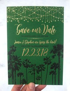ColorQuarry Letterpress /// Stunning Starry California Night Letterpress & Gold Foil Save the Dates