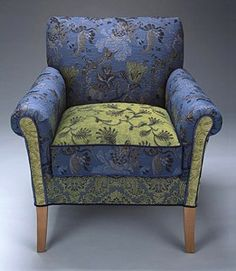 Salon Cornflower Chair by Mary Lynn O'Shea at artfulhome.com  $2900  (PINNER'S NOTE - Outrageous price!  This could easily and VERY affordably be replicated on a vintage classic chair!!!)  Beautiful!!!