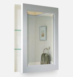 Rejuvenation Medicine cabinet No-Trim+Medicine+Cabinet+Kit+FSC-Certified+Solid+Wood Bathroom Mirror Cabinet, Medicine Cabinet Mirror, Mirror Cabinets, Bathroom Cabinets, Medicine Cabinets, Bathroom Hardware, Bathroom Furniture, Lavender Bathroom, Bedroom Seating