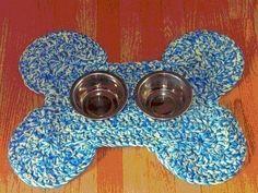 Crocheted Dog Bone Mat Pattern. $4.25, via Etsy.