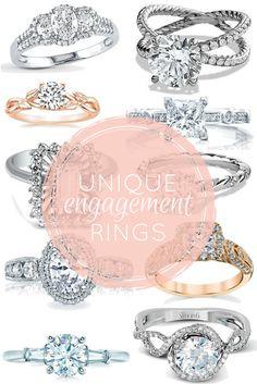unique diamond engagement rings