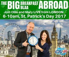The Big Breakfast Blaa gang are hitting the road or the sky we should say! Ollie & Mary will be live from London this St Patrick's Day AND they'll be bringing Blaas! #LifeAtWLR #IrishAbroad #Waterford #blaas