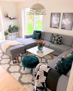 71 new modern apartment living room design ideas page 29 Small Living Rooms, Living Room Grey, Home Living Room, Living Room Designs, Modern Living, Cozy Living, Small Apartment Interior, Apartment Living, Room Interior