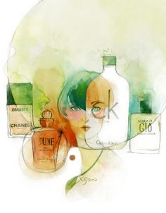 Woman perfume of the times by XS hang, via Behance