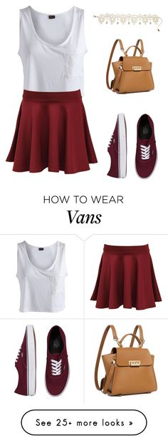 """""""Street style"""" by maryamlovesbeauty on Polyvore featuring Pieces, Vans, Amrita Singh, ZAC Zac Posen and Pilot"""