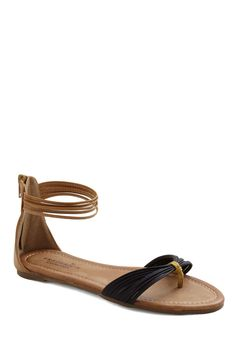 Shoreside Ceremony Sandal - Yellow, Solid, Flat, Black, Brown, Casual, Summer
