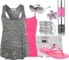 Summer pink casual