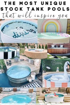 The Most Unique Stock Tank Pools on Instagram » We're The Joneses Above Ground Swimming Pools, Above Ground Pool, In Ground Pools, Easy Crafts For Kids, Diy Home Crafts, Stock Tank Pool, Tank Pools, Kiddie Pool, Plunge Pool