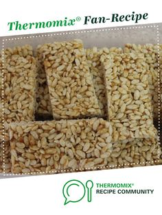 Recipe Healthy LCM style Puffed Rice Bars by learn to make this recipe easily in your kitchen machine and discover other Thermomix recipes in Baking - sweet. Vegetarian Breakfast, Vegan Vegetarian, Breakfast Recipes, Rice Bar, Sweet Recipes, Healthy Recipes, Puffed Rice, Vanilla Essence, Cereal Recipes